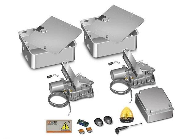 Hình ảnh minh họa các bộ phận trong hệ thống cổng tự động âm sàn